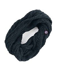 Canada Goose Cable Knit Loop Scarf Ink Blue