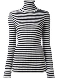 Forte Forte Striped Ribbed Jumper Black