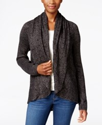 Karen Scott Shawl Collar Open Front Cardigan Only At Macy's Black Ash