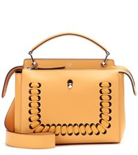 Fendi Dotcom Leather Shoulder Bag Yellow