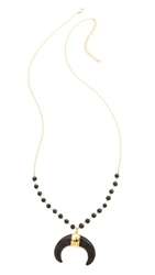 Heather Hawkins Goddess Necklace Black Spinel