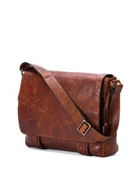 Logan Men's Messenger Bag Antique Cognac Frye Red