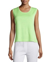 Ming Wang Scoop Neck Knit Tank Fen
