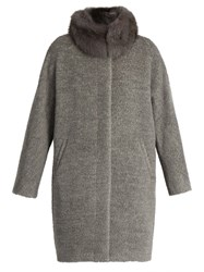 Max Mara Calore Coat Light Grey
