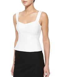 Nanette Lepore Tempter Corset Top With Sweetheart Neckline White