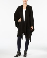 Styleandco. Style Co. Fringe Poncho Cardigan Only At Macy's Deep Black