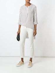 Brunello Cucinelli Frayed Hem Cropped Jeans Nude And Neutrals
