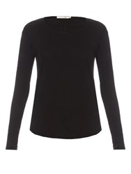 Rag And Bone Slacker Long Sleeved Cotton T Shirt Black