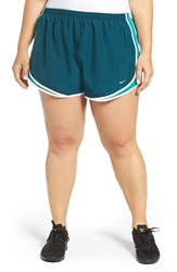 Nike Plus Size Women's 'Tempo' Track Shorts Midnight Turquoise Teal