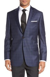 Hart Schaffner Marx Men's Classic Fit Check Wool Sport Coat Blue