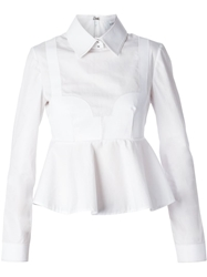 Viktor And Rolf Peplum Shirt White