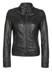Oakwood Leather Jacket Schwarz Black