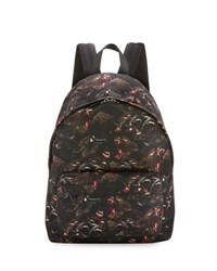 Givenchy Monkey Brothers Neoprene Backpack Black