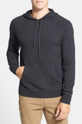 1901 Merino Wool And Cashmere Hooded Sweater Gray