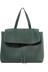 Mansur Gavriel Lady Tumbled Leather Tote Dark Green