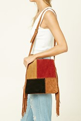 Forever 21 Fringed Suede Crossbody