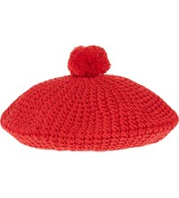 Gucci Pure Cotton Beret Hat Red