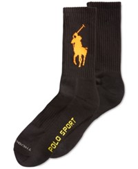 Polo Ralph Lauren Men's Polo Sport Crew Socks Black Orange