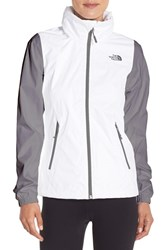 The North Face Women's 'Resolve Plus' Waterproof Jacket Tnf White Mid Grey