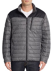 Hawke And Co Quilted Down Puffer Jacket Grey
