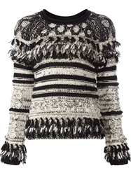Yigal Azrouel Chunky Knit Sweater Black
