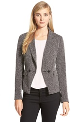 Halogen Double Breasted Knit Blazer Regular And Petite Black Whtie Blur Chevron