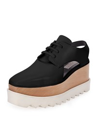 Elyse Cutout Platform Oxford Black Stella Mccartney