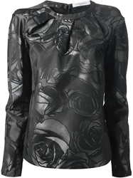 Viktor And Rolf Rose Print Top Black