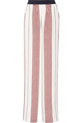 Elizabeth And James Rory Striped Silk Wide Leg Pants
