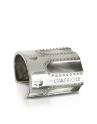 Calibro12 Revolver Sterling Silver Studded Cuff Bracelet W Natural Ruby
