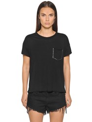 Ragandbone Jean Studded Pocket Cotton Jersey T Shirt