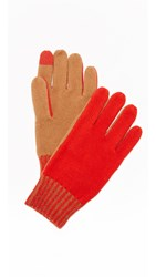 Rag And Bone Lorraine Texting Gloves Red