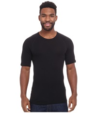 Icebreaker Everyday Short Sleeve Crewe Black Men's Short Sleeve Pullover