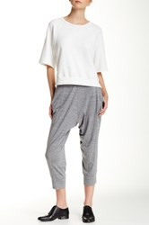 Eileen Fisher Drawstring Crop Harem Pants Gray