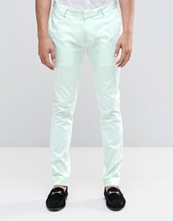Asos Superskinny Trouser In Pale Blue Cotton Sateen Pale Blue