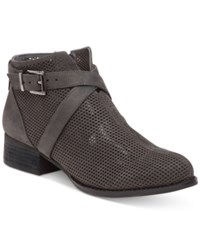 Vince Camuto Casha Perforated Booties Women's Shoes Battleship