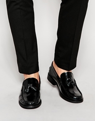 Asos Loafers In Leather Black