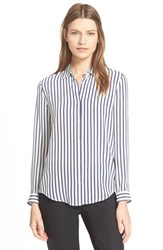 Women's The Kooples Stripe Silk Boyfriend Shirt