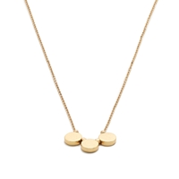 J.Crew Hammered Metal Pendant Necklace Antique Gold