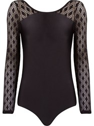 Lygia And Nanny Lace Longsleeved Swimsuit Black