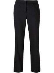 Michael Michael Kors Flared Cropped Trousers Black