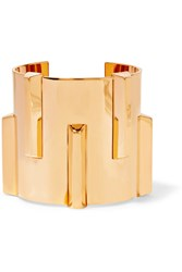 Saint Laurent Gold Tone Cuff