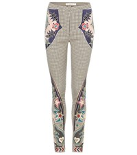 Mary Katrantzou Labyrinth Embroidered Skinny Trousers Multicoloured
