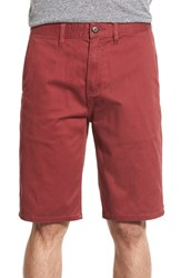Men's Element 'Howland' Stretch Cotton Twill Shorts Ox Blood