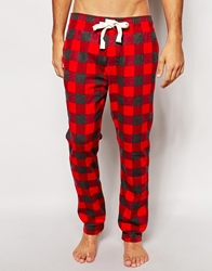 Abercrombie And Fitch Check Flannel Pants Red