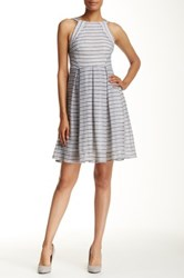 Eva Franco Nova Print Dress Gray