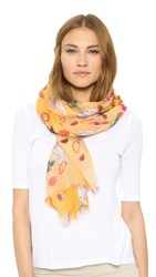 Bindya Fruit Scarf Yellow Multi