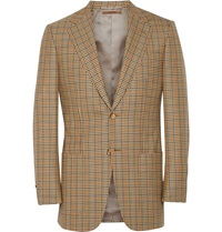 Dunhill Belgravia Glen Plaid Wool Blazer Brown