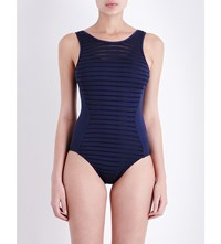 Jets By Jessika Allen Parallels High Neck Swimsuit Ink
