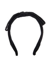 Maison Michel Kety Perforated Headband In Black